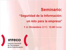 seminario seguridad INTECO