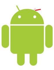 Logo de android atacado