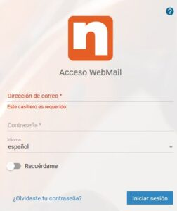 Acceso webmail nerion