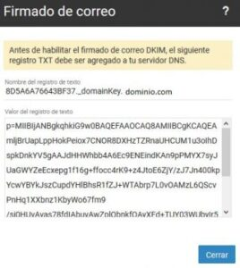 Como configurar DKIM en correo smartermail
