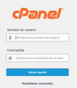 Acceso a cPanel para editar configuración correo