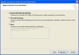 Elegir opción configuración manual del servidor