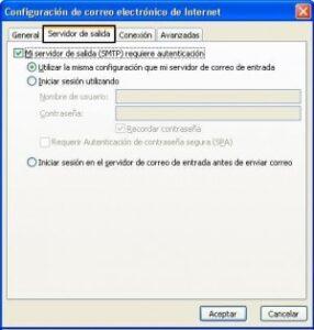 Configuración correo