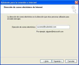 Configuración correo cuenta adicional Outlook