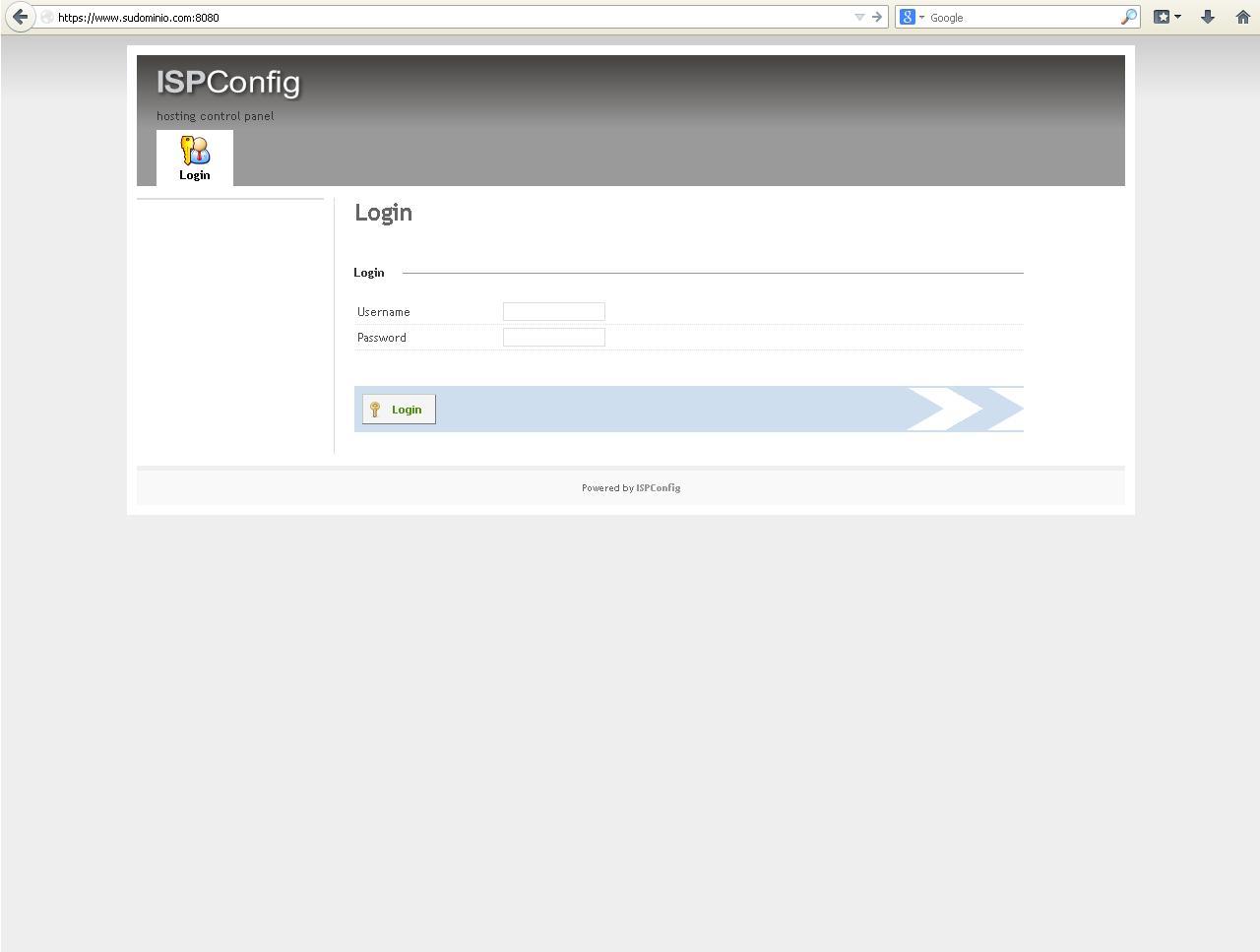 login-ISPConfig