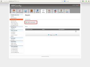 Añadir cuenta de correo en ISPConfig