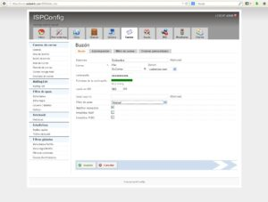 Como crear cuenta de correo en ISPConfig