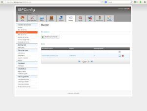 Cuenta correo creada correctamente ISPConfig