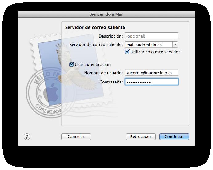 como configurar correo en mail de mac