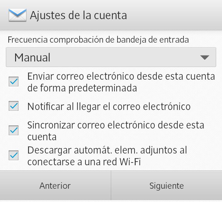configurar correo electronico en android