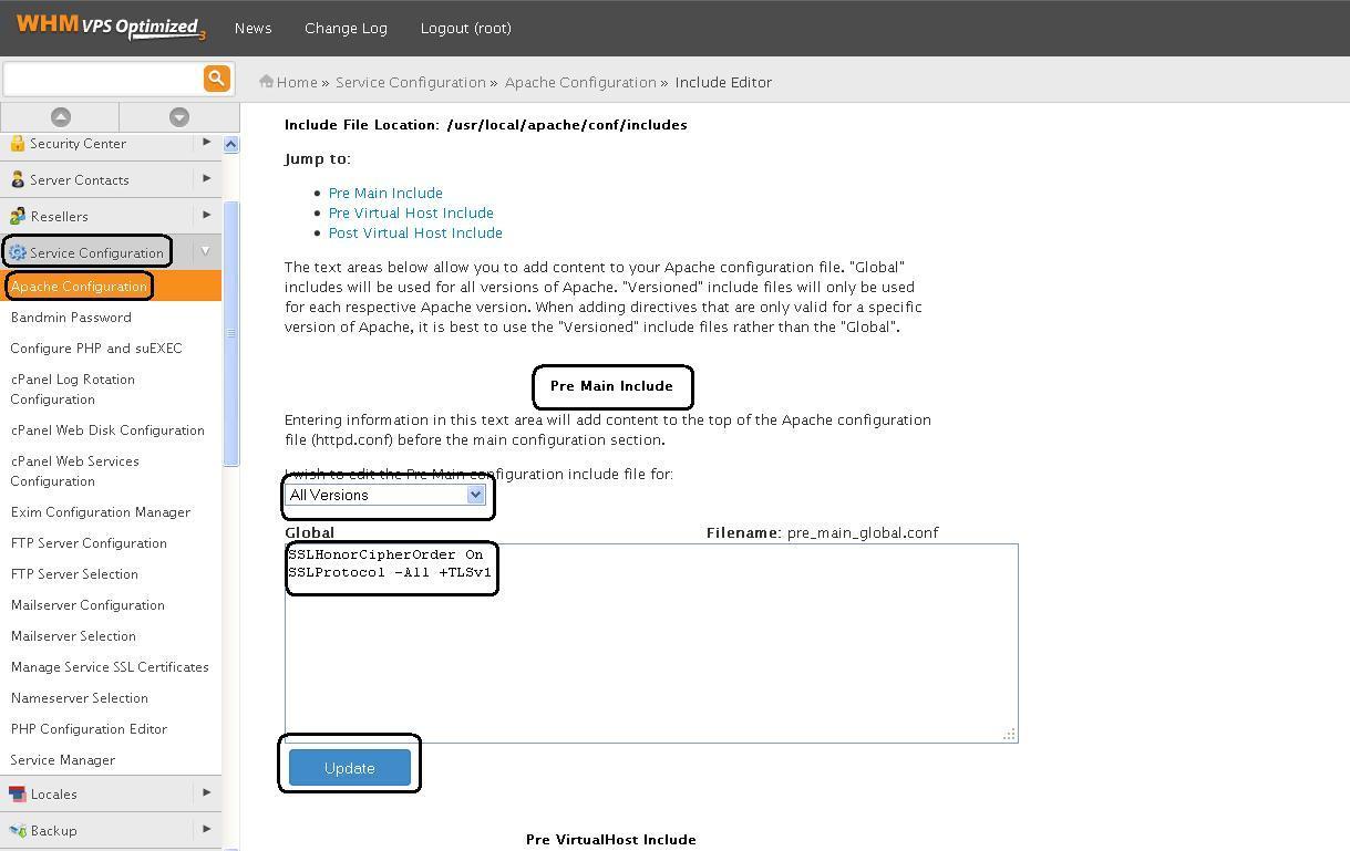 Solucionar vulnerabilidad SSL v3.0 - Apache