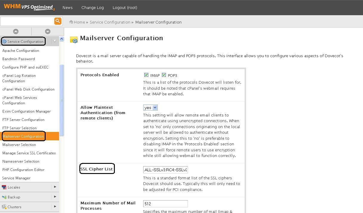 Solucionar vulnerabilidad SSL v3.0 - Dovecot/Courier