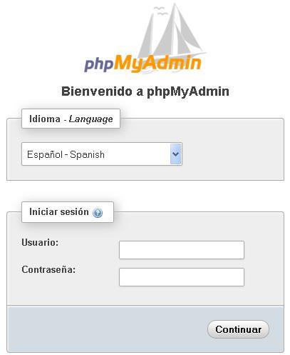 acceso-phpMyAdmin