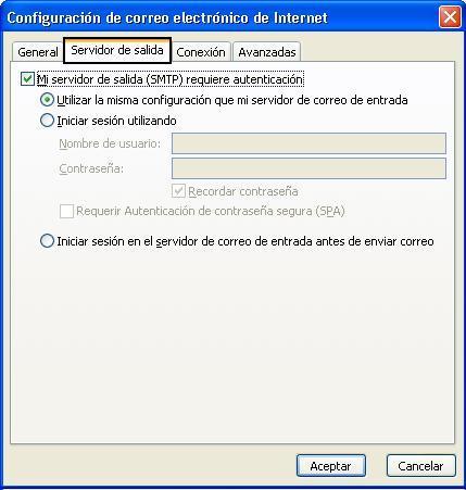 Configurar correo seguro con SSL