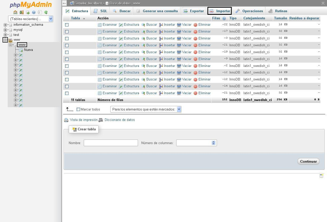 Importando-base-de-datos-phpMyAdmin