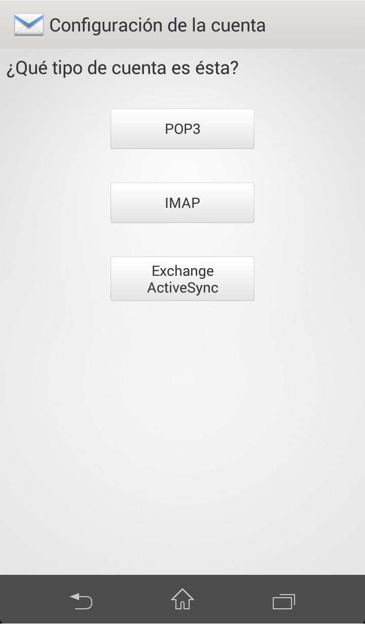 Como configurar correo exchange en Android Paso 3