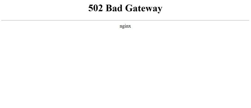que es el error 502 bad gateway
