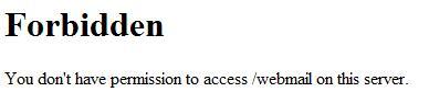 Error webmail ISPConfig