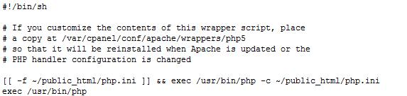 Configurar php personalizado en cPanel