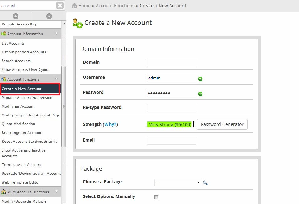 create_new_cpanel_acc