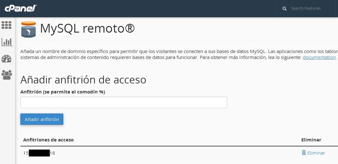 MySQL Remoto en cPanel1