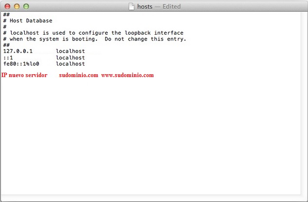 file hosts mac