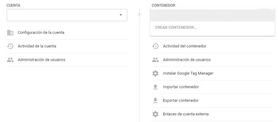 Crear un nuevo contenedor en Google Tag Manager