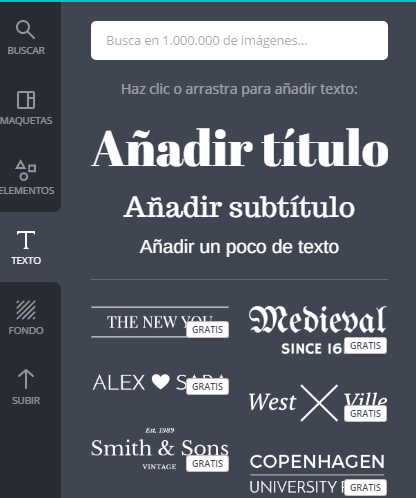 Como introducir texto en Canva