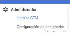 Administrador del contenedor de Google Tag Manager