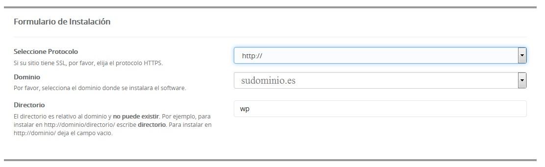 softaculous wordpress