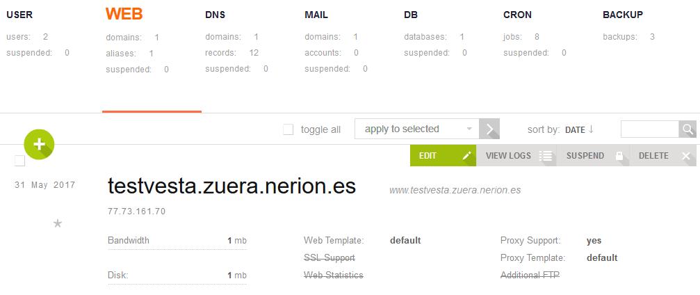 instalacion vestacp en varios php