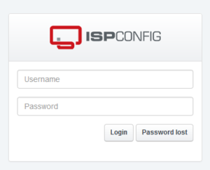 acceso panel de control ispconfig