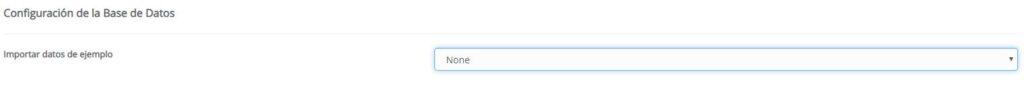 Configuración de la base de datos Joomla
