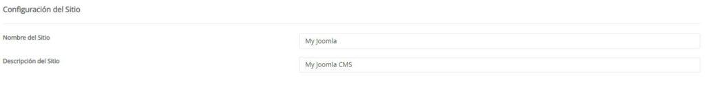 Configuración sitio Joomla con Softaculous