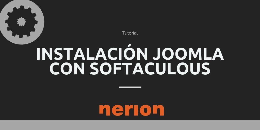 Cómo instalar joomla con Softaculous desde cPanel