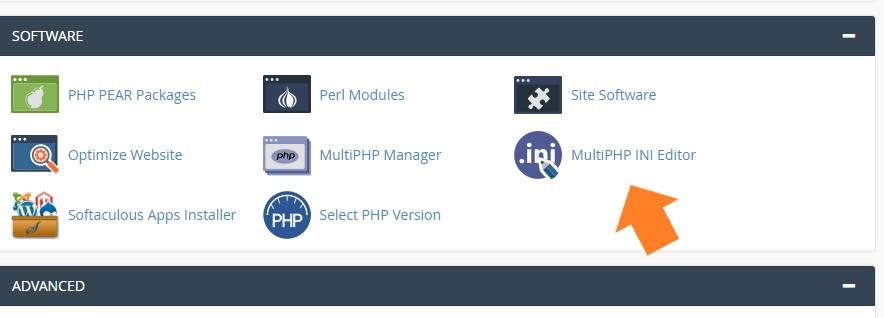 Proceso para editar parámetros php en cpanel