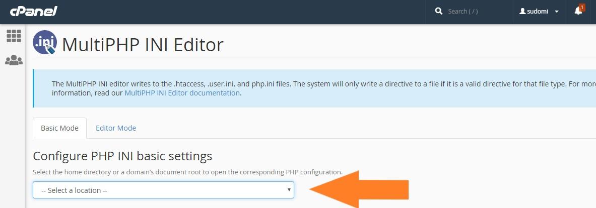 Seleccionar parámetros PHP a modificar