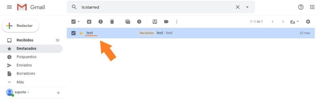 cómo sacar la cabecera de un email en Gmail