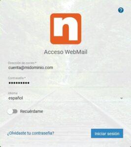 inicio de sesión en SmarterMail