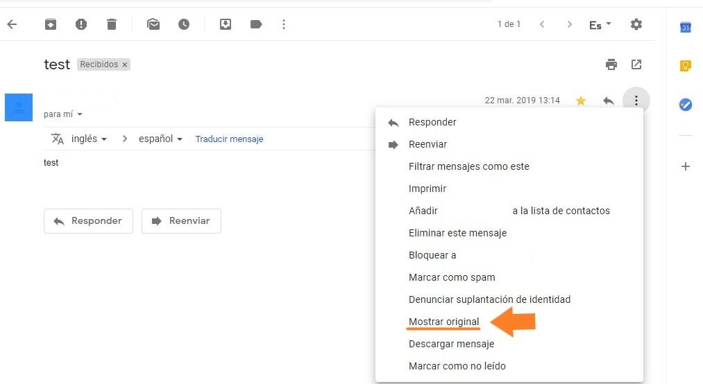 cabecera gmail correo
