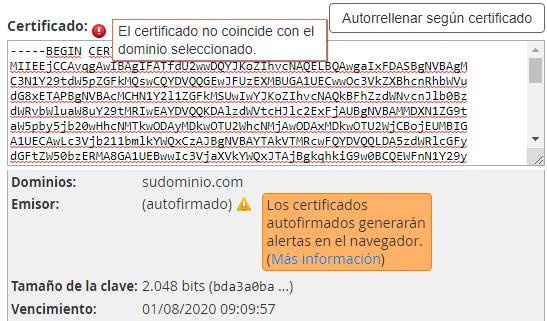 Cómo instalar un certificado ssl
