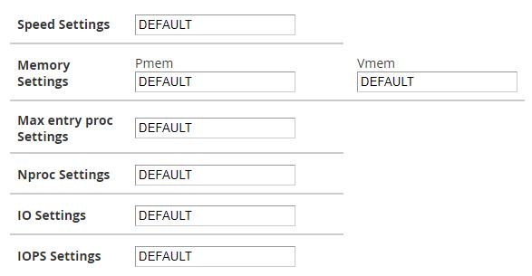 configurar paquete de extensiones en cpanel